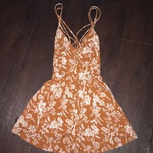Forever 21 deep orange floral romper